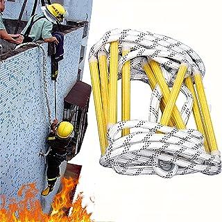 iksvmsis Echelle de Corde de Sauvetage Balcon(4 Etages, 10M), Échelles de Secours 10m Sécurité Résistant Aux Flammes, Eche...