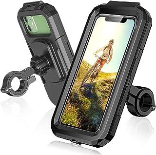 ENONEO Fiets Telefoonhouder Waterdicht 360 ° Rotatie Mobiele Telefoonhouder voor Fiets Scooter Motorfiets Telefoon Mount m...
