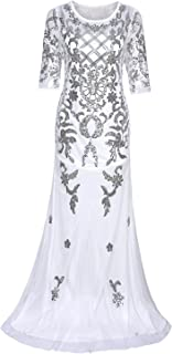 Best white sequin prom dress long Reviews