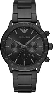 Emporio Armani orologio Mario cronografo acciaio nero AR11242