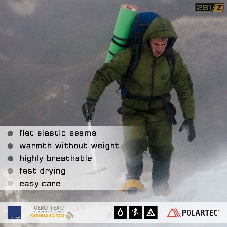 281Z Military Warm 8 inch Boot Liner Socks Outdoor Tactical Hiking Sport Green Khaki Polartec Fleece Winter Socks