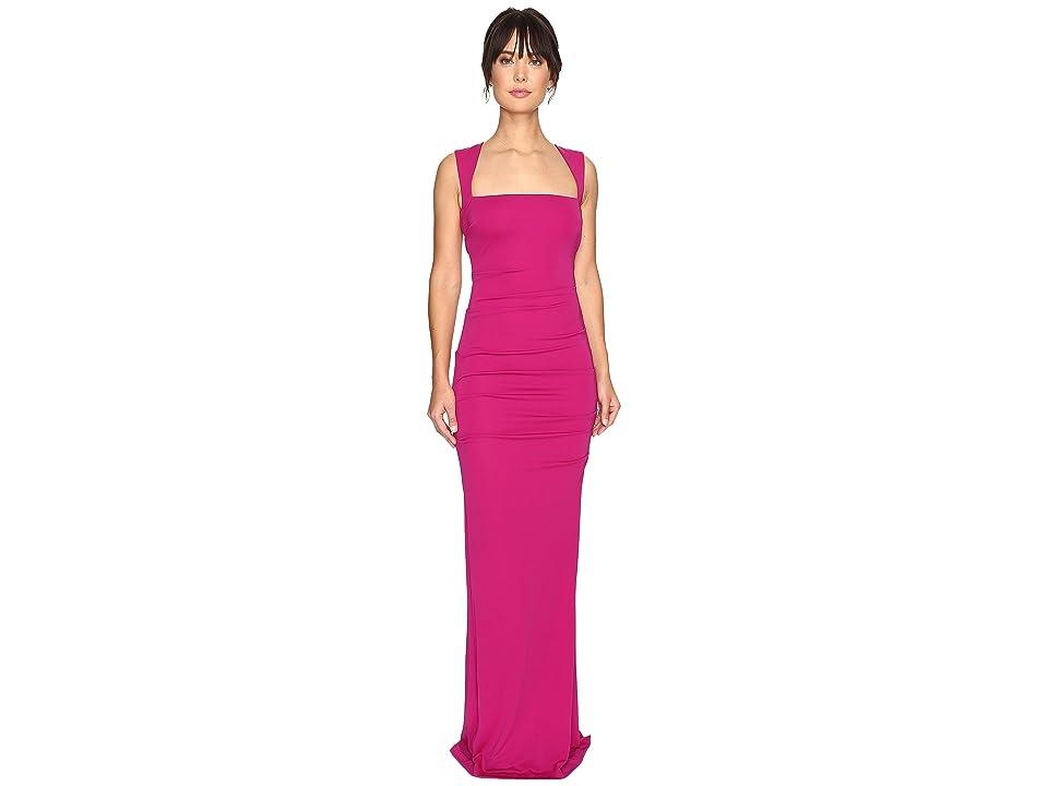 Nicole Miller Felicity Open Back Jersey Gown (Pinkberry) Women