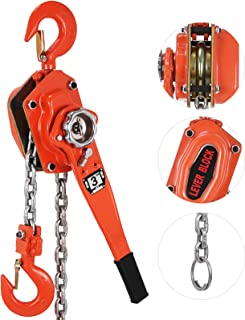Mophorn 0.75T 1650LBS Lever Block Chain Hoist 4.5M 15Ft Mini Manual Chain Hoist Alloy Steel G80 Chain Ratchet Lever Hoist with Hook