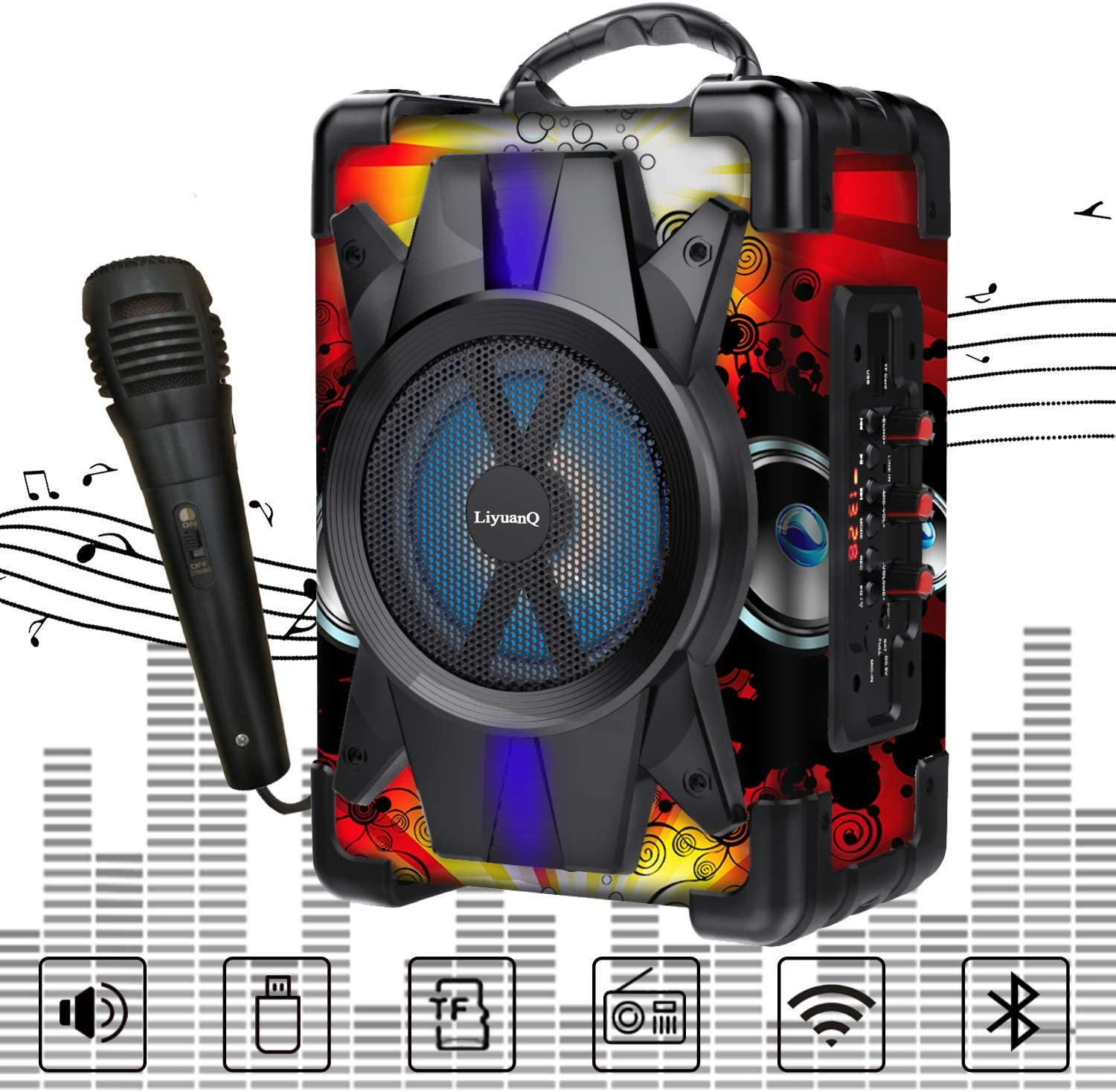 LiyuanQ Portable Wireless Bluetooth Speakers Su Microphone Ranking shop TOP20 with