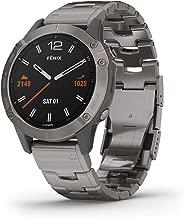 Garmin Fenix 6 Sapphire, Premium Multisport GPS Watch, features Mapping, Music, Grade-Adjusted Pace Guidance and Pulse Ox Sensors, Titanium