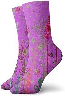 Mariposa del alma Calcetines cortos transpirables Calcetines clásicos de algodón de 30 cm para hombres Mujeres Yoga Senderismo Ciclismo