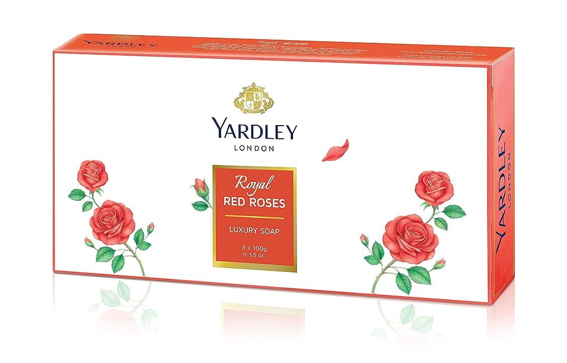 酸麺調和のとれたYardley 1ロンドン赤バラ、3?x net wt。100?g e 3.5oz
