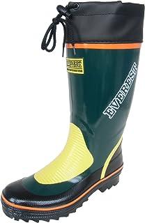 長靴 雨靴 防水 レインシューズ ブーツ フード カラー 作業長 軽量 ガーデニング 洗車 畑仕事 2色 メンズ (28.0 cm, モスグリーン)
