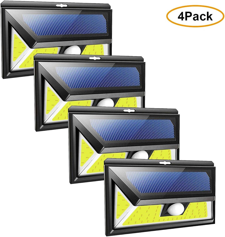 EFGS Solarleuchte für Auen, 270 ° Weitwinkel Bewegungssensor SolarLampen für Weg, Zaun,4Pack