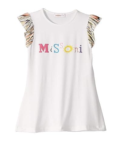 Missoni Kids Logo Print T-Shirt Dress (Toddler/Little Kids) (White) Girl