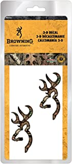 Browning 3D Auto Decal, Buckmark, Mossy Oak Infinity Camo, Pack of 2