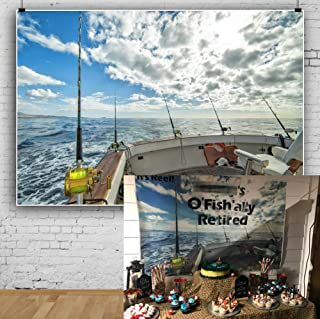 AOFOTO NBK11017 Hintergrund für Meeresangeln und Boote, Vinyl, LBK11017, 9x6ft
