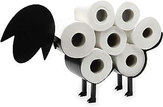 Schaap-toiletrolhouder | Vrijstaande toiletpapierstandaard | Metalen toiletaccessoire | Leuke badkameraccessoires | M&W