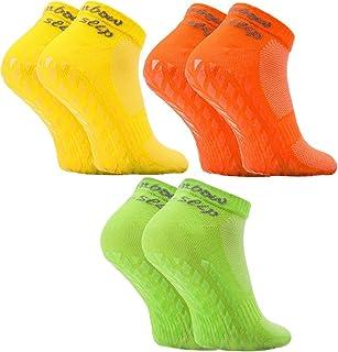 Rainbow Socks - Donna Uomo Calze Sportivi di Cotone ABS 3 Paia