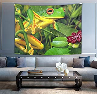 NiYoung Frog Green Tapestry, Bohemian Wall Tapestry Wall Hanging Tapestries - Dorm Indian Decor Home Art Living Room Bedroom Dorm Room 50 x 60 inches