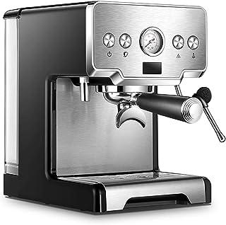 ماكينة تحضير اسبرسو ستير، 15 قطعة، ماكينة قهوة احترافية مع خزان مياه وقياس ضغط قابل للإزالة 1.7 لتر، كابتشينو ولتي، 1450 وات
