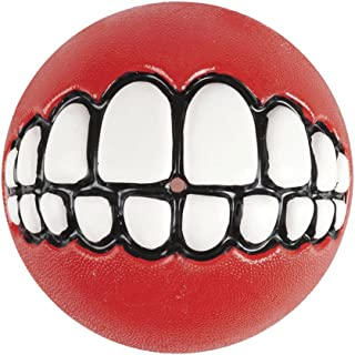 Rogz Grinz Ball Dog Toy, Red Small
