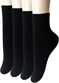 Womens Thick Terry Cushioning Cotton Socks 4 Pack 5 Pack