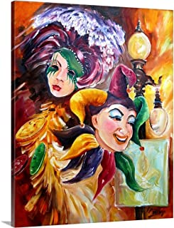 Mardi Gras Canvas Wall Art Print, 16