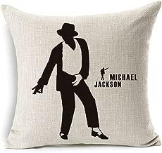 Jameswish Dancing Michael Jackson Throw Pillow Cover Heavy-Duty Linen 3D Cushion Cover Moonwalk Decorative Throw Pillow Case 18 x18 Inch (No Pillow Insert)