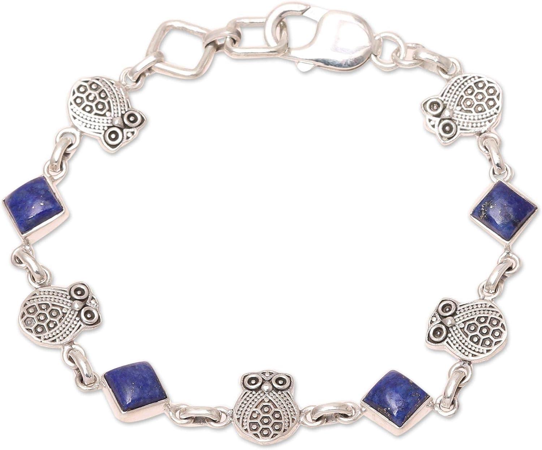 Novica Royal Owls Lapis Lazuli Womens Dedication Girls Bracelet Link For OFFicial site