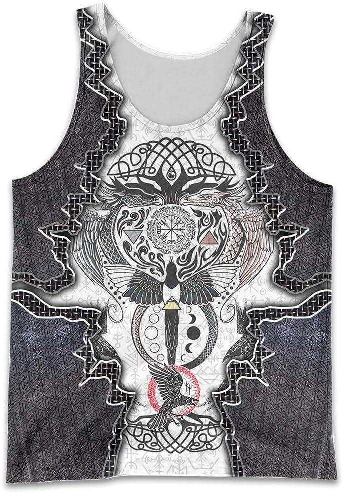 YABEME Men's Viking Seattle Mall Clothes Set Award Print Duplex Norse 3D Mythology