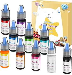 Food Coloring 10 Color Easter Egg Decorating Dye Kit Cake Coloring Decorating - DaCool Edible Baking Color Concentrated Vi...