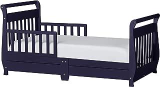 Dream On Me Sleigh Toddler Bed w/Storage Drawer, Navy
