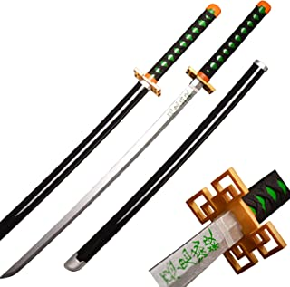 Afdfad Demon Slayer Cosplay Wood Sword,Tokitou Muichirou,Weapon Sword Accessory,Anime Fans' Collections