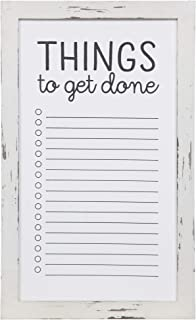 Everly Hart Collection Rustic to Do List Mount Whiteboard Wall Décor, 13