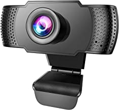 Anbes Webcam, HD 1080P Web Camera & USB PC Computer Webcam with Noise Canceling Microphone for Conferencing Video Calling ...