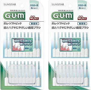 サンスター ガム・ソフトピック 無香料 サイズSSS~S 40本入 ×2個セット