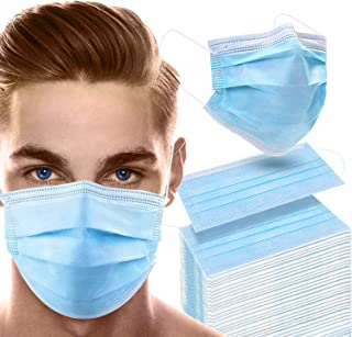 Sponsored Ad - Supsiah Face Mask, Elastic Earloop - 100 Disposable Masks Safety for Protection Breathable (Blue)