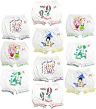 HAP Girls and Boys White Cotton Printed Bloomer Drawer Multi Pack(Pack of 10)
