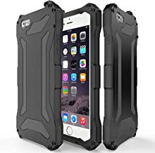 iPhone 5S SE Metal case, 360 Full Body Protective Zenova Slim Luxury Aluminum Alloy Extremely Protective Water Resistant Shockproof Military Bumper Heavy Duty Cover Shell (Black)
