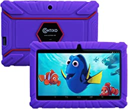 """Contixo 7"""" inch 6.0 Android Kids Tablet   Parental Control with Pre-Installed Children Learning Games & Toddler Education Apps + Kid Proof Case-2019 Edition (Purple)"""