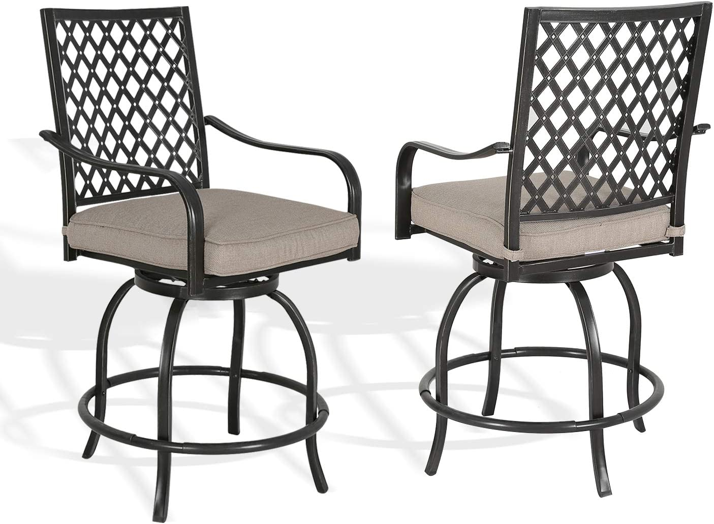 Patio Tree Outdoor Swivel Bar Beige Chairs Stools Free shipping Cus Max 63% OFF with