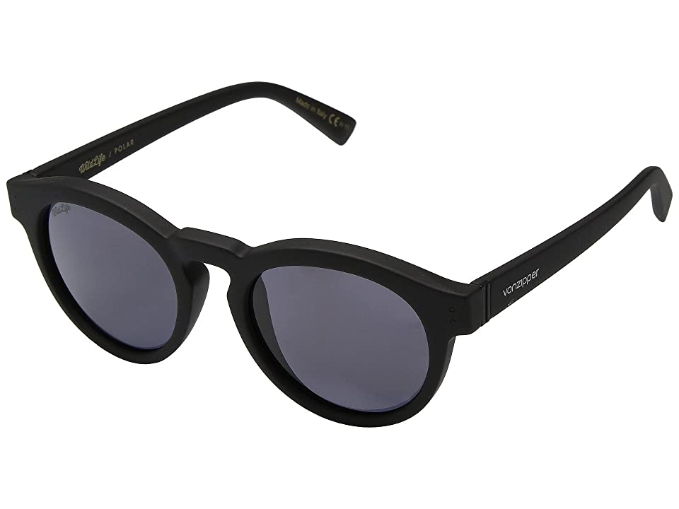 VonZipper Ditty Polar (Black Satin/Wild Vintage Grey Polar) Athletic Performance Sport Sunglasses