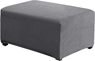 Ottoman Cover Rectangle Storage Stool Slipcovers Stretch Foot Stool Covers to Fit Ottoman Foot Rest