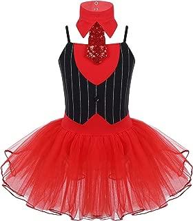 CHICTRY Kids Big Girls Ballerina Birthday Party Lion Tamer Tutu Dress Circus Ringmistress Dance Leotard Costumes