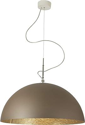 In-es.artdesign IN-ES0501BR-O Mezza Luna 1 Sospensione E27, Bronzo/Oro