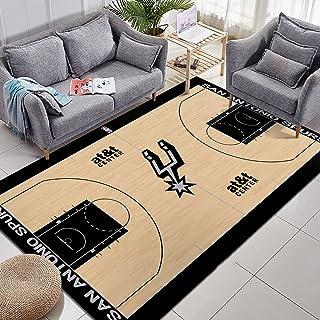 Tritow NBA Tapis San Antonio Spurs Tapis de Basket-Ball Tapis de Sol antidérapant pour Chambre paillasson Avant Porche Mai...