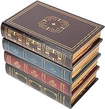 Nepboeken Houten opbergdoos, verborgen opbergboek Decoratieve opbergdozen met deksels voor woondecoratie(L)