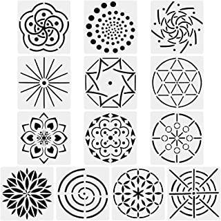 URlighting Mandala Dotting Stencils Template (13 Pack) - Reusable Different Patterns Mandala Dot Painting Template Set for...