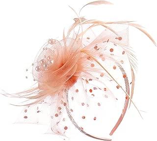 peach fascinator clip