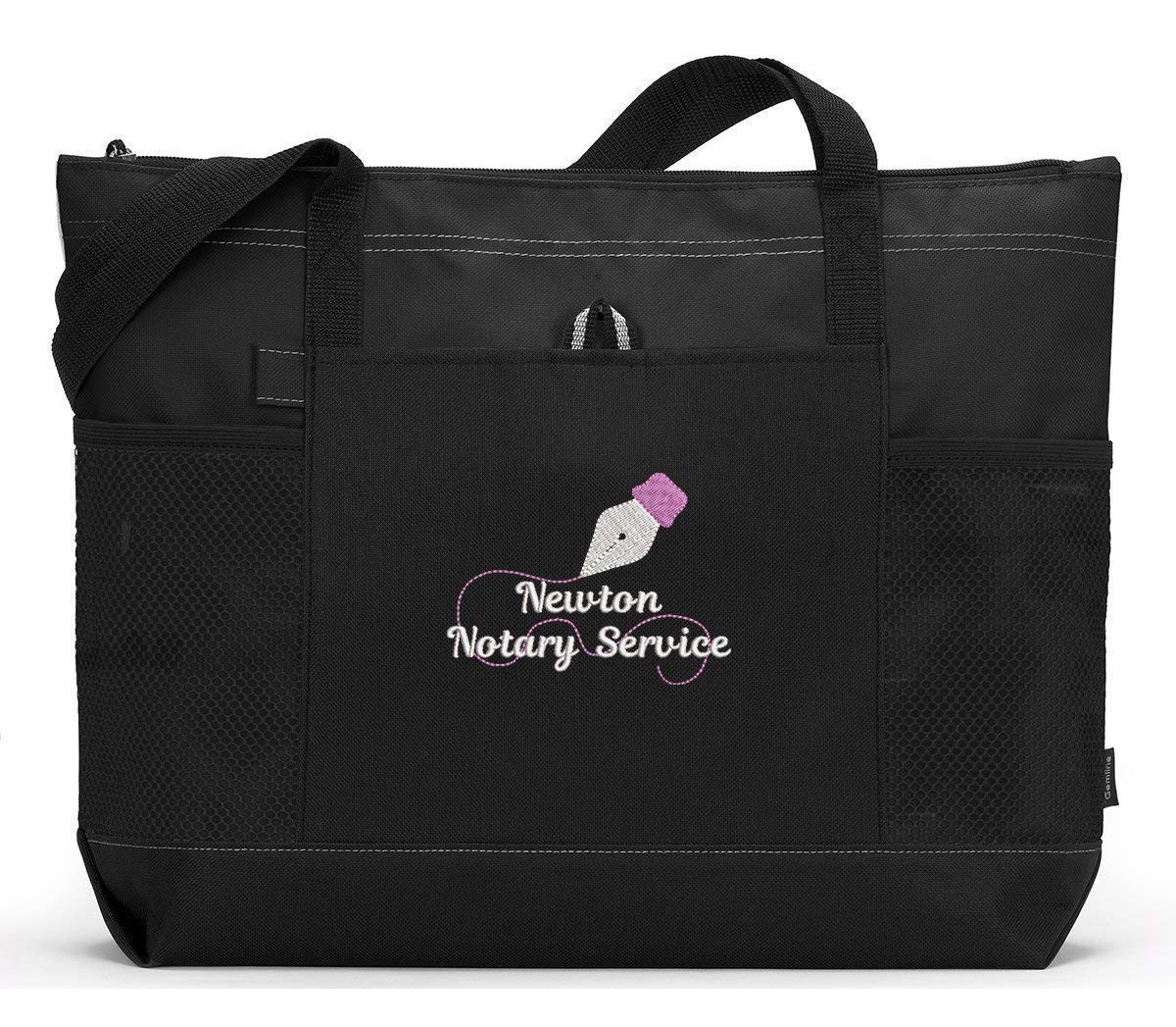 Notary Public 35% New popularity OFF Personalized Embroidered Tote