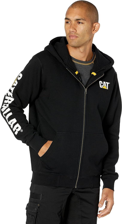 Caterpillar Men's Full Zip Hooded Sweatshirt (Regular and Big & Tall Sizes)