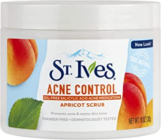 St. Ives acne Control apricot Face scrub, With Salicylic acid, Paraben Free, and oil free, 10 oz