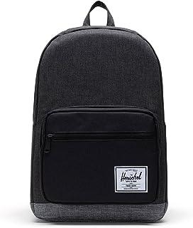 Herschel Supply Co. Pop Quiz Offset Backpack, Black Crosshatch/Black/Raven Crosshatch, One Size, Classics | Backpackspop Quiz