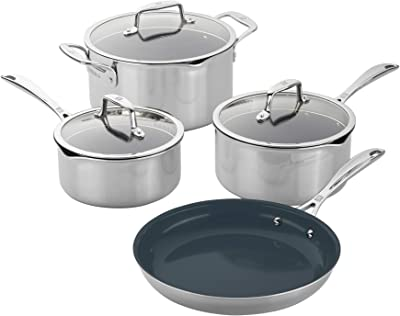 ZWILLING Clad Stainless Steel Ceramic Nonstick Cookware Set